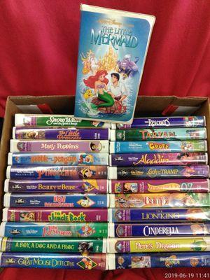 Bulk Lot 40 Disney VHS + Banned Mermaid for Sale in Riverview, MI