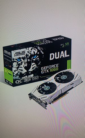 ASUS GeForce GTX 1060 3GB Dual-Fan OC Edition Graphics Card (DUAL-GTX1060-O3G) for Sale in Nottingham, MD