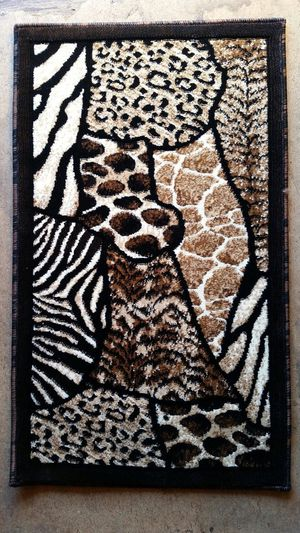 Animal skin design door mat area rug brand new for Sale in Salem, OR