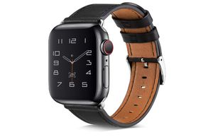BELONGME Compatible with Apple Watch Band 44mm 42mm 40mm 38mm, Genuine Leather Replacement Strap with Stainless Metal Buckle for iWatch Series 5, Ser for Sale in Rancho Cucamonga, CA