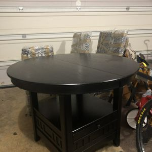 Table And 4 Chairs, Black, Pub Style for Sale in Covington, GA