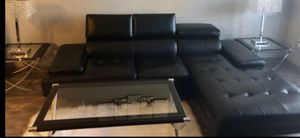 By owner sofa black leather for Sale in Dallas, TX