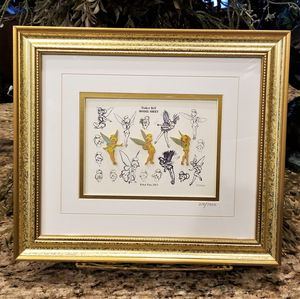 NEW WALT DISNEY GALLERY Tinkerbell Sketches Limited Edition Framed Pin Set COA for Sale in Phoenix, AZ
