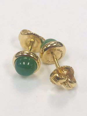 Authentic Tiffany & Co ELSA PERETTI Cabochon 18K Gold Earrings. Weight 2.5 g for Sale in Miami, FL