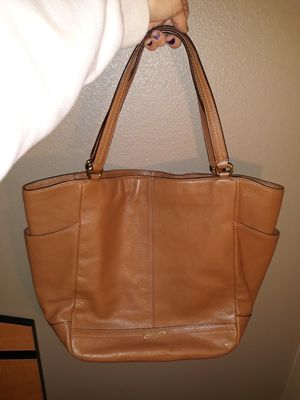 Brown leather coach purse for Sale in Colorado Springs, CO