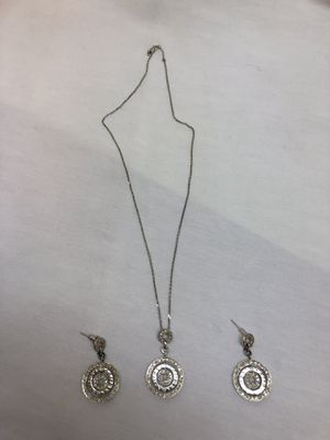 Bvlgari Necklace Pendant and Earrings Set! Genuine diamonds and white 14K Solid Gold! Retail $3499! for Sale in Los Angeles, CA