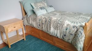 Twin bedroom set storage bed and mattress dresser night stand for Sale in Tacoma, WA