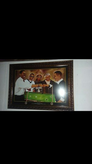 Wall Picture Jay Z Chris Brown Lil Wayne Obama & Usher for Sale in St. Louis, MO