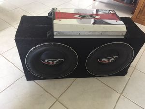 """Two 12"""" Subwoofers with 2400w amp + miscellaneous for Sale in San Diego, CA"""
