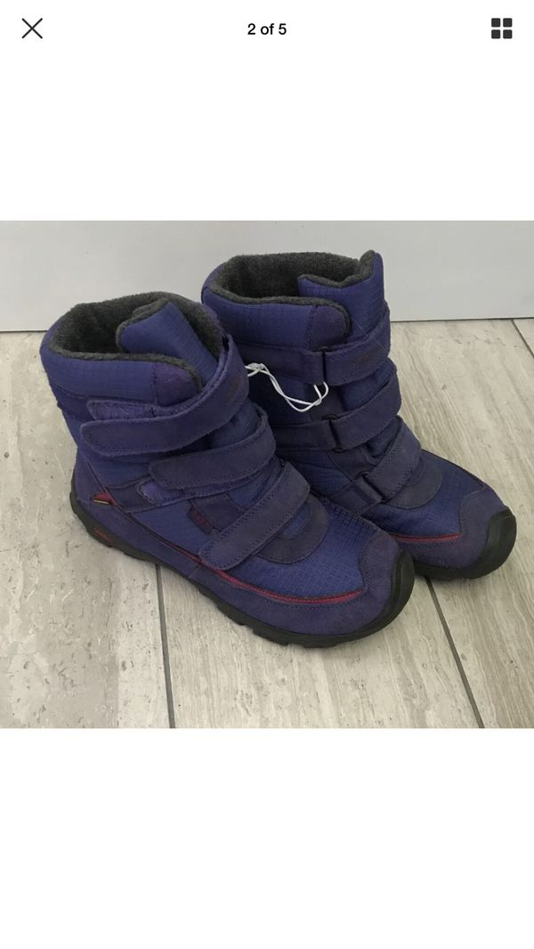 Girls Keen Snow Boots Purple Pink Youth Sz 6 Preowned