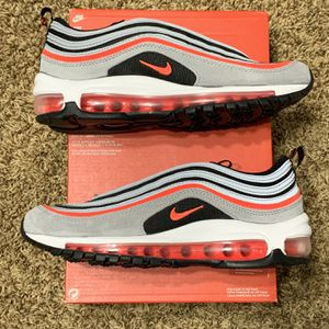 Air Max 97' Wolf Grey Radiant Red | Size 6Y | 7.5 Women's for Sale in Bonney Lake, WA