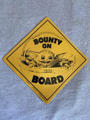 Disney The Mandalorian Bounty on Board Magnet 🧲 for Sale in Whittier, CA