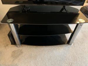 Glass 3 Tier TV Stand for Sale in West Los Angeles, CA