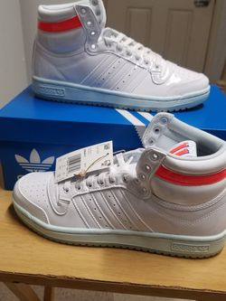 Trae Young x Adidas Top Ten 'Ice Trae' (White Patent Leather) GW4977 In Hand US Size 8 And 8.5 for Sale in Camden,  NJ