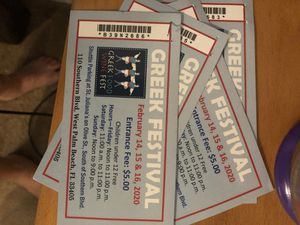Free tickets to wpb Greek festival for Sale in Lake Worth, FL