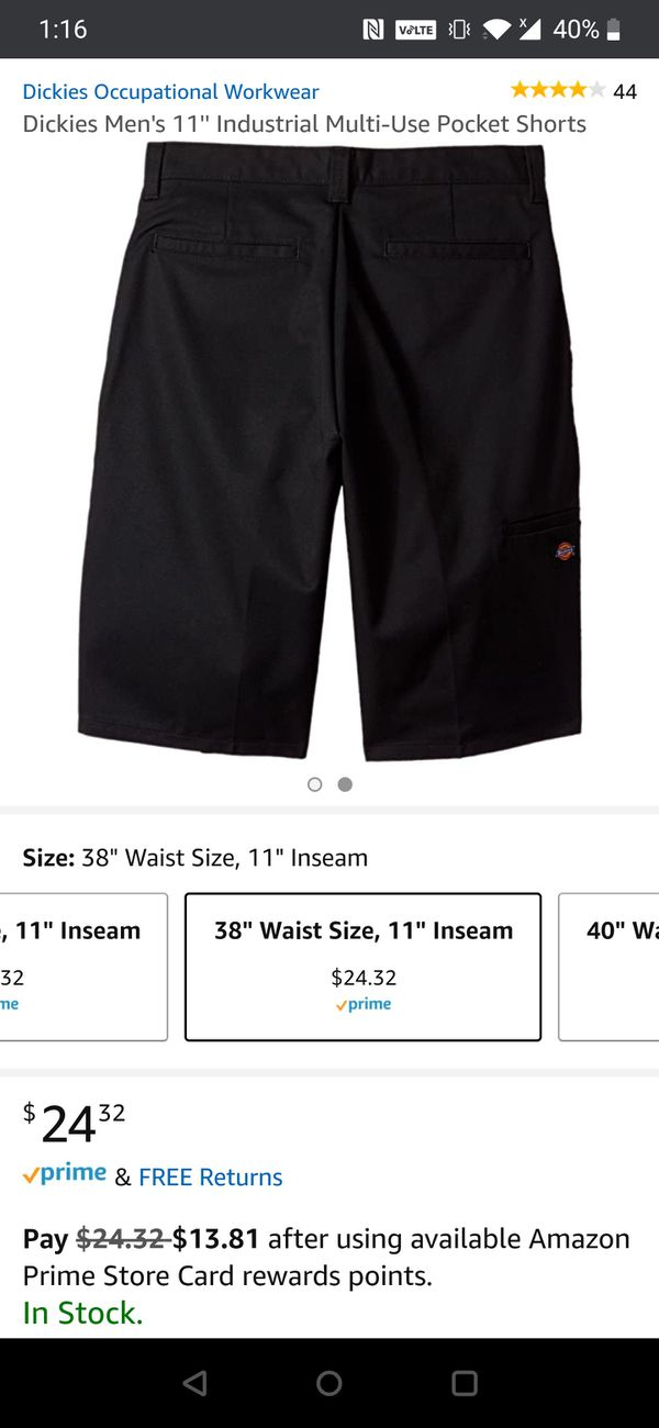 Brand new Dickies Shorts Size 38 - Black