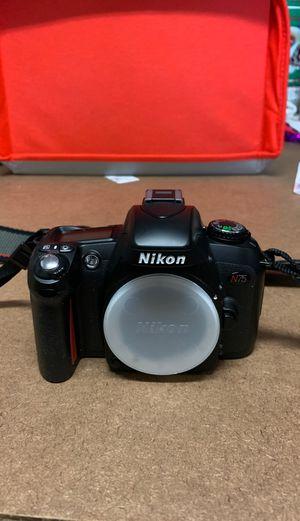 Nikon N75 no lense (film rolls) for Sale in Roseville, CA