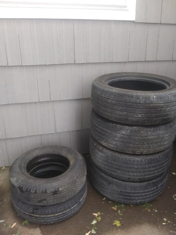 """**PRICE REDUCED** Set of 4 good, used 17"""" tires + 2 new trailer tires"""