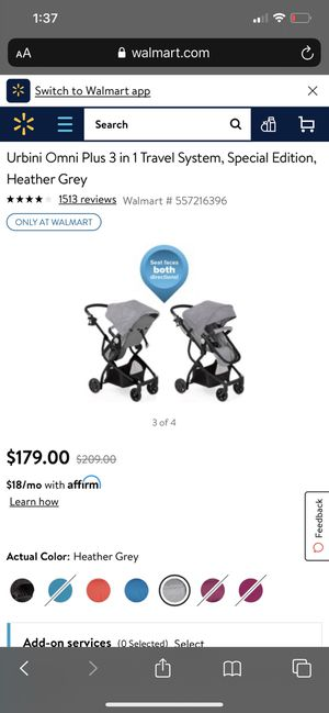 Urbini Omni plus 3 and 1 travel system specially edition for Sale in Bakersfield, CA