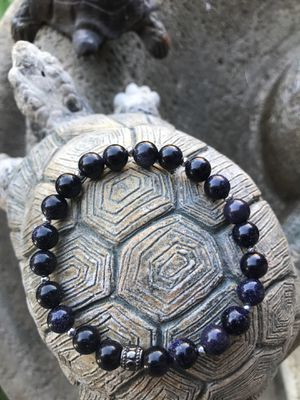 Blue sand stone stretch bracelet size 8 inches for Sale in Stockton, CA