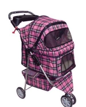 Pet Pink Plaid Stroller for Sale in Portland, OR