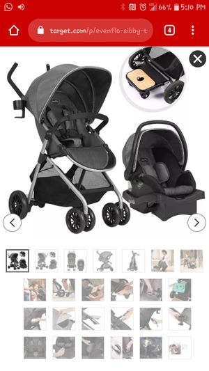 Evenflo Sibby Travel System with litemaxx Carseat for Sale in Virginia Beach, VA