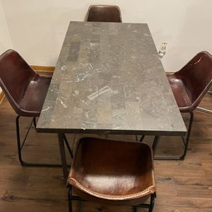 Four Chair High Marble Table for Sale in Melrose Park, IL