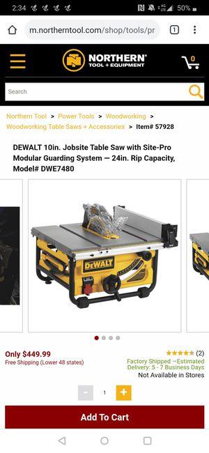 DeWalt table saw for Sale in Seattle, WA