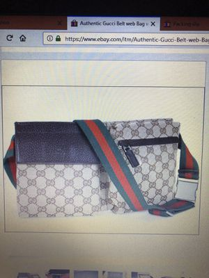 Authentic New Gucci Fanny Pack Belt Handbag for Sale in New York, NY