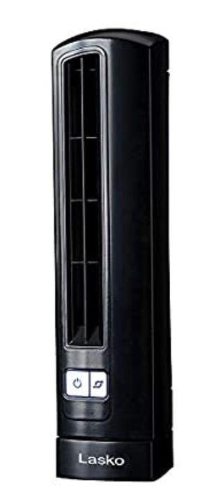 Lasko T14200 Air Stick Ultra Slim Oscillating Fan Tabletop Tower, Black for Sale in Las Vegas, NV