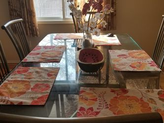 Glass Dining table With 6chairs Asking $350 Obo . for Sale in Southfield,  MI