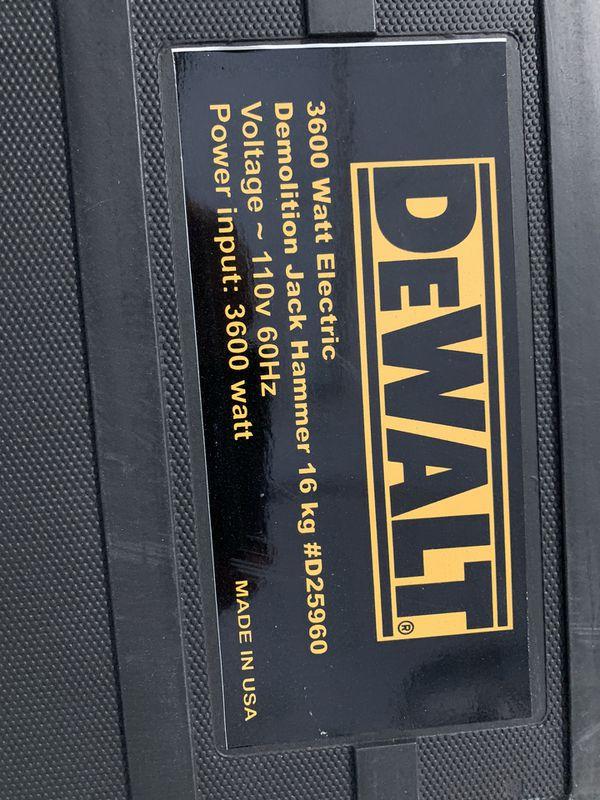 Dewalt D25960 Jack Hammer