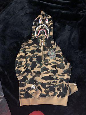 Bape Half zipper Shark hoodie 1st Camo Yellow for Sale in Los Angeles, CA