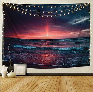 Beautiful Tapestry Hawaiian Wave Meditation Wall Sea Sun Wall Blanket Art Home Living Room Dorm Decor for Sale in Glendora, CA