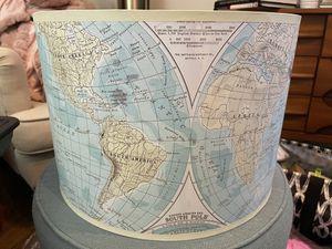 Handmade World Map Drum Lamp Shade Artist for Sale in Brainerd, MN