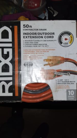 Ridgid Extension Cord. 10 Gauge for Sale in Los Angeles, CA