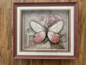 Art With Frame Butterfly Decorative Wall Art for Sale in Torrance, CA