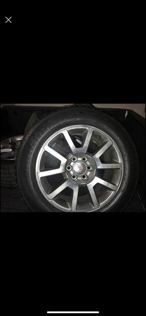 2017 GMC Sierra Denali OEM rims 20in + tires for Sale in Ontario, CA