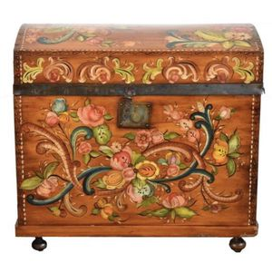 Tole painted antique chest cabinet box Seattle for Sale in Seattle, WA