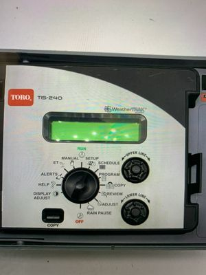 TORO intelli-sense series Sprinkler controller TIS-24-OD weatherTrak for Sale in Perris, CA