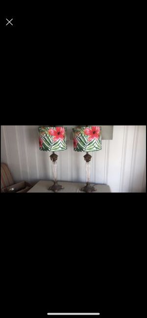 2 Antique lamps with beveled glass for Sale in Wakefield, MA