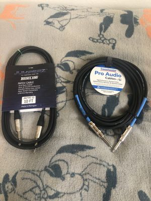Pro quarter inch audio cables 2x for Sale in Denver, CO