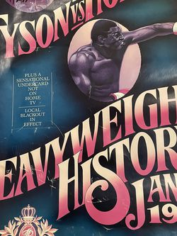 Mike Tyson Vs Holmes Vintage Poster Autographed for Sale in Brooklyn,  NY