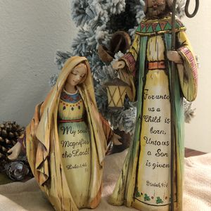 Resin Mary & Joseph Christmas Figurines for Sale in Largo, FL
