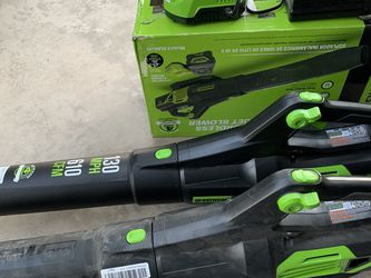 Greenworks 125 Mph 80v Max Lithium Ion Brushless Handheld Cordless Electric Leaf Blower for Sale in North Las Vegas,  NV