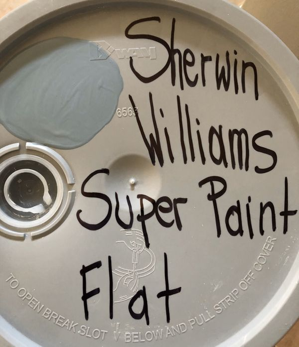 Interior Sherwin Williams Paint 5 gallon bucket for $50 each. Color: Beige, Tan,Off white, Blue ish Gray, Blue, Burgundy. Amazing Deal!✅🌍⛄️