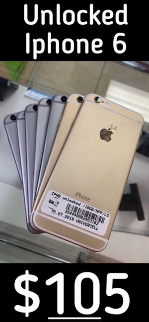 Factory unlocked clean new condition with warranty Iphone 6 ! 3 colors Available for Sale in Tampa, FL