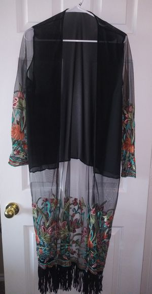 Boho/hippie floral long cardigan size L for Sale in Mesquite, TX