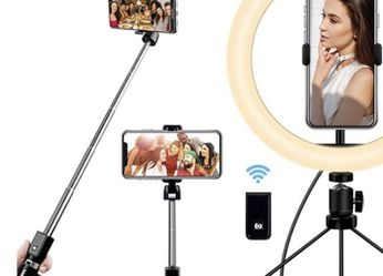 10'' Selfie Ring Light with Stand and Phone Holder for Sale in Lancaster,  CA