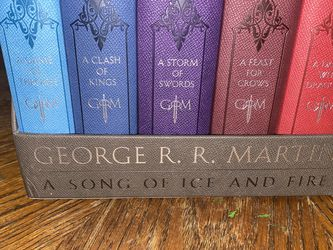A Song of Ice and Fire: Game of Thrones Leather Bound Set of 5 Books for Sale in Inglewood,  CA